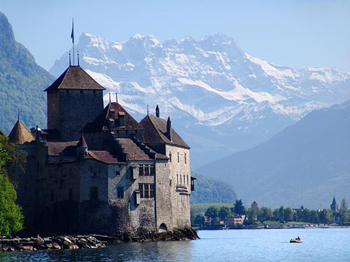 Castillo de Chillon, junto al lago Lemán