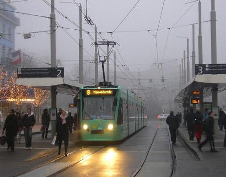 En tren por Basilea