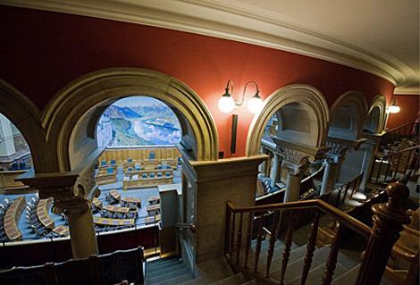 Interior del Parlamento de Berna
