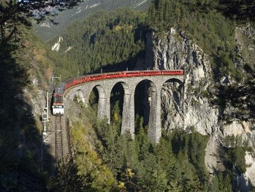 El tren Albula-Bernina, sitio histórico universal