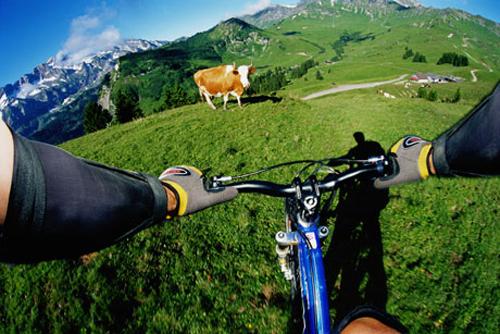 bicicleta en suiza