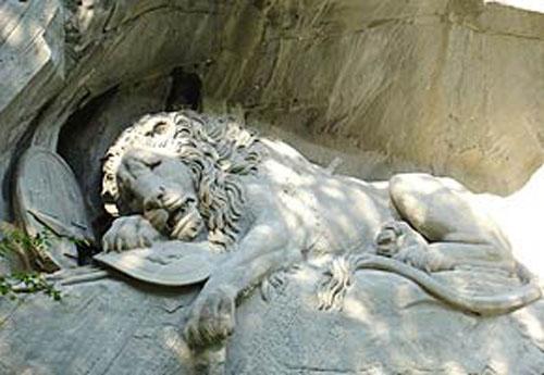 leon moribundo de Lucerna