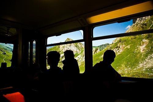 El tren de cremallera Rochers-de-Naye