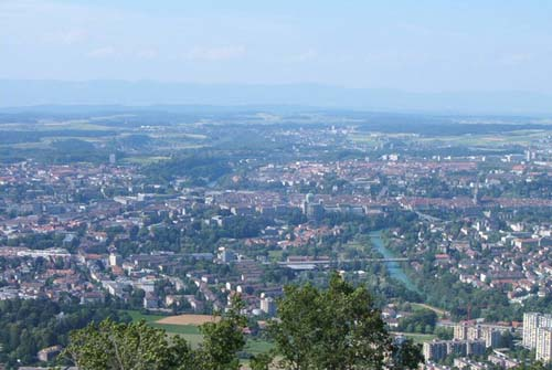 La montaña Gurten, vistas sobre Berna