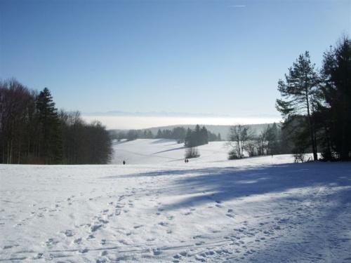 Cadena montañosa de Randen en invierno