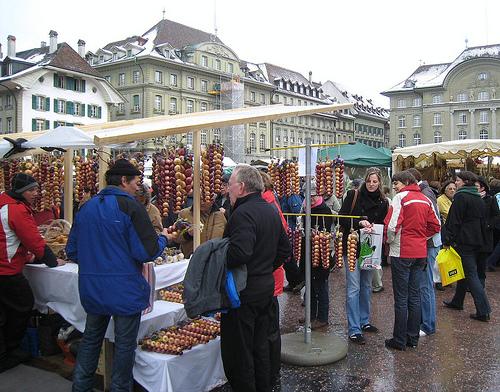 Festival Zibelemärit, cebollas en Berna