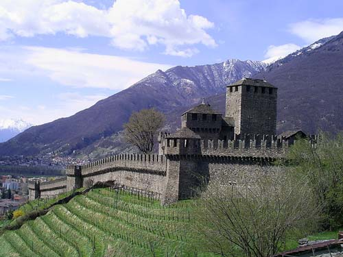 El Castillo Montebello, en Bellinzona