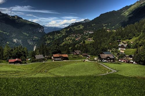 Granjas alpinas en Gstaad