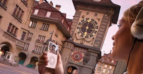 Berna, autoguía con el iPod