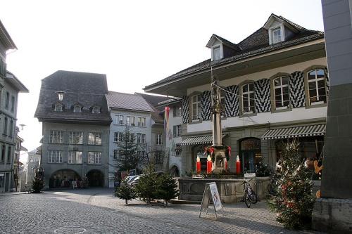 Calle del centro historico de Burgdorf
