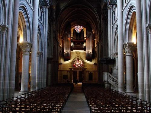 Interior de la Catedral de Lausanne