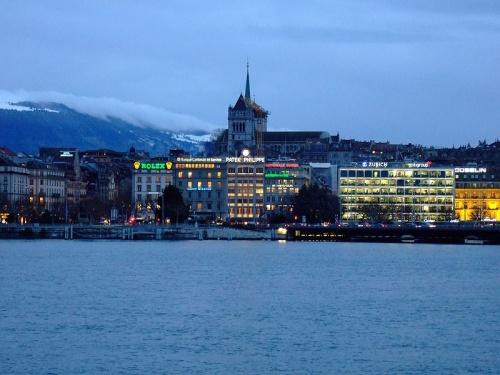 Ginebra vista desde el lago