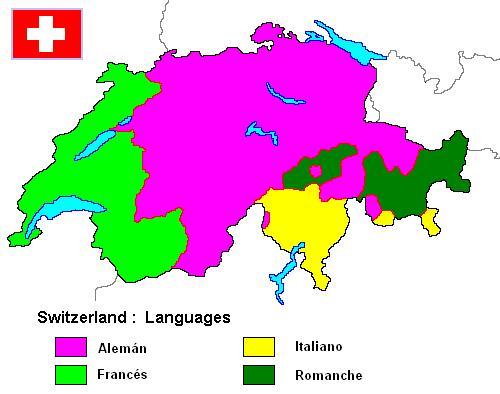 Suiza, el país de los cuatro idiomas