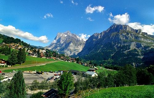 Paisaje del Oberland Bernes