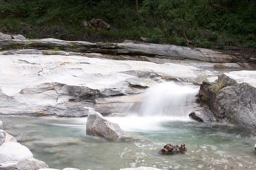 Manantiales de agua en Biasca