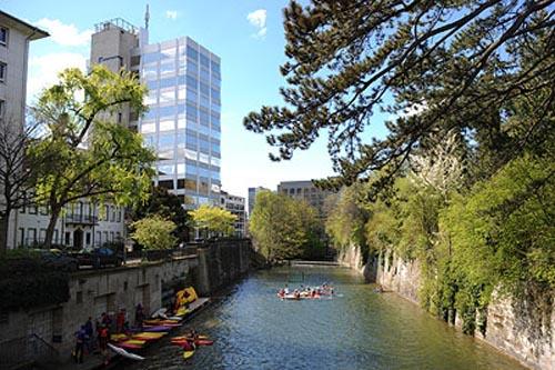 El Canal Schanzengraben, en Zurich