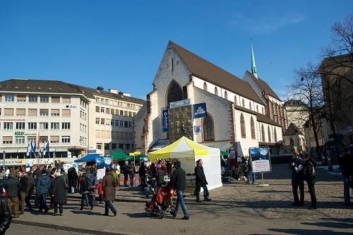 Barfüsserplatz, en el centro histórico de Basilea