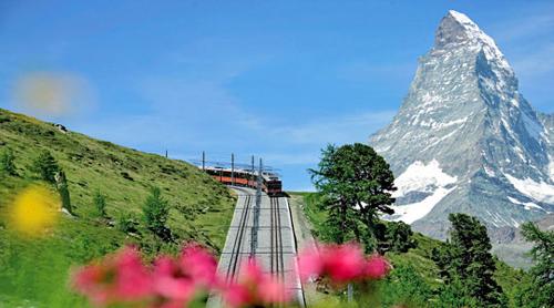 Gornergrat Bhan, un bonito tren de montaña