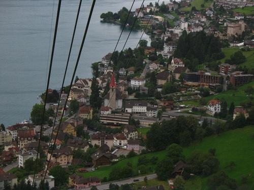 Vista de Weggis desde el teleférico