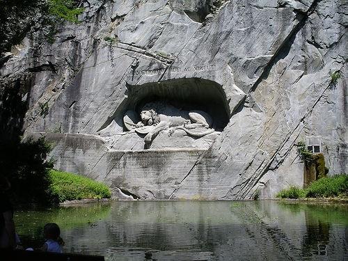 Estatua del Leon de Lucerna