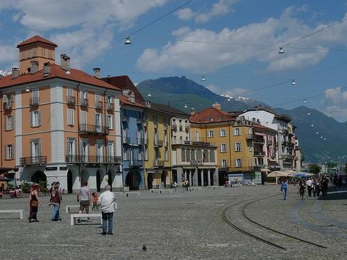 La hermosa Piazza Grande de Locarno
