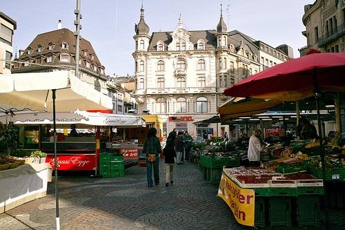 Marktplatz en Basilea