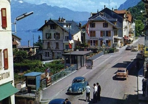 saint gilgolph en la frontera franco suiza